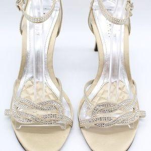 Ralph Lauren Tan Satin Heels Size 8.5B